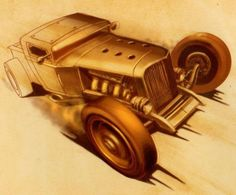 HOT-ROD-ART-BOOK-MASTERS-OF-CHICKEN-SCRATCH-VOL-1-2-CUSTOM-HOW-TO-DRAW-CARS