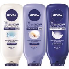 I've been using the innovative Nivea In-Shower Body Lotion ($7.99) for the last week and a half and it is life changing. I should start off by saying I'm s