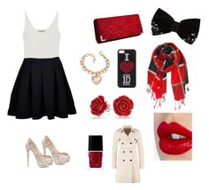 """""""Black and red!"""" by arianaflores-duran ❤ liked on Polyvore featuring Mulberry, Comptoir Des Cotonniers, Giuseppe Zanotti, Humble Chic, Bling Jewelry, Charlotte Tilbury and Patrizia Pepe"""