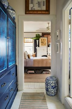 that blue armoire.
