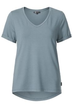 Basic top viscose Grijsblauw
