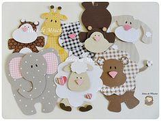 Apliques - Turminha (Artes de Miucha com papel) Tags: baby co kids paper natureza artesanato craft gato infantil bebe macaco papel scrap animais floresta leo girafa urso elefante ovelha