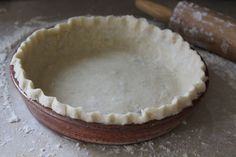 NEVER FAIL COCONUT OIL PIE CRUST! Finally a pie crust without shortening! From The Joyful Pantry.