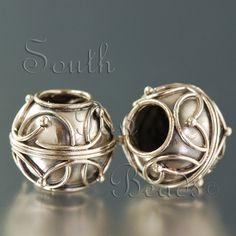 New large hole bali design sterling silver beads...  These are so pretty!