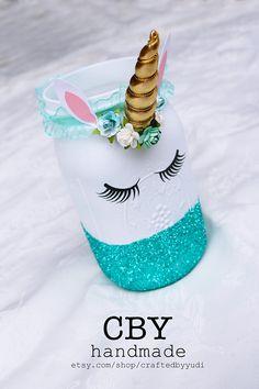 Centros de mesa unicornio tarro cristal / / persona de