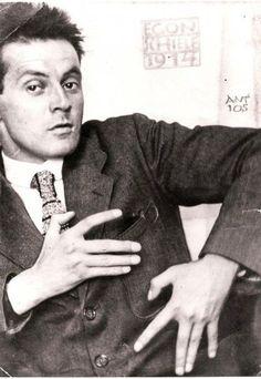 Egon Schiele,1914. Photograph by Anton Josef Trčka, Albertina Museum