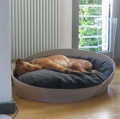Entspannung pur im Hundekorb! ARENA Hundebett in Filz 85 x 75 cm. 2 Größen, 6 Filzfarben, 9 Kissenfarben.