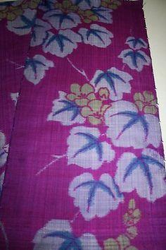 Vintage Japanese Silk Leafy Weave Meisen.