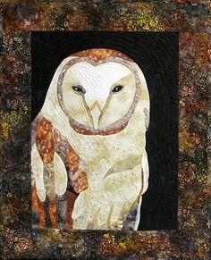 Barn Owl Art Quilt