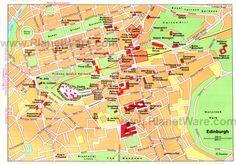 Map of Edinburgh Attractions | PlanetWare-Printable