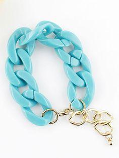 Fashion Blue Chain Link Bracelet pictures