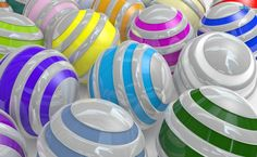 Colorful spheres HD Wallpaper
