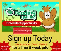 Teachers: FREE 8 week pilot of Nessy Reading and Spelling. This program offers fun games and animated strategies to teach Orton-Gillingham based reading and spelling. Come learn more!!