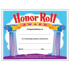 b honor roll certificate 30pack downloadable templates available to personalize or can be handwritten certificates and awards pinterest honor roll - B Honor Roll Certificate Template