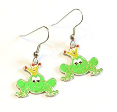 Yellow and Green Prince Frog Crown Charm Enamel by SummerWilson8, $2.50