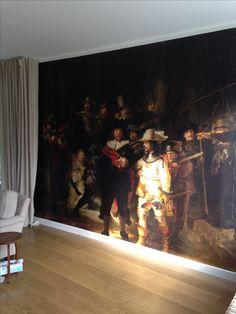 De Nachtwacht; behang Rijksmuseum