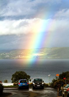 Rainbow over the town of Jönköping in Sweden.