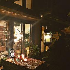 夜の庭/アウトドアリビング/アガベ/モロッコランプ/オイルランプ/キャンドル…などのインテリア実例 - 2015-11-28 18:22:32 | RoomClip(ルームクリップ)