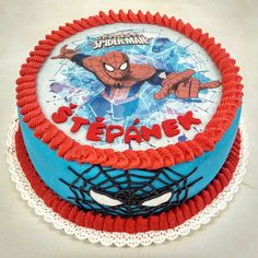 Spiderman, Cake, Spider Man, Kuchen, Torte, Cookies, Cheeseburger Paradise Pie, Tart, Pastries