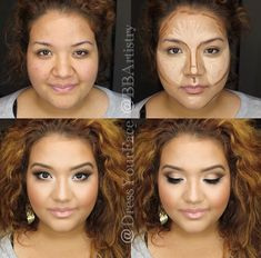 18 times women vilely deceived us with ma .- 18 Veces en que las mujeres nos engañaron vilmente con el maquillaje – Pinmakeup 18 times women vilely tricked us with makeup – # cheated - Highlighter Makeup, Contour Makeup, Contouring And Highlighting, Contouring Round Face, Make Up Contouring, Highlighters, Bronzer, Concealer, Contour For Round Face