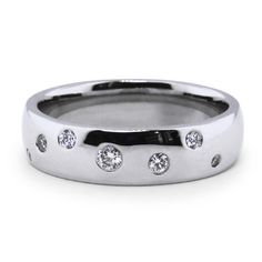 Custom Designed Flush-Set Diamond Band | brilliantearth.com