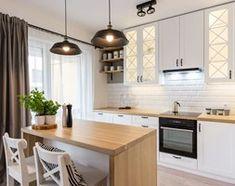 Aranżacje wnętrz - Kuchnia: ODROBINA SKNDYNAWII - REALIZACJA - Średnia otwarta kuchnia dwurzędowa w aneksie z oknem, styl skandynawski - TAKE [DESIGN]. Przeglądaj, dodawaj i zapisuj najlepsze zdjęcia, pomysły i inspiracje designerskie. W bazie mamy już prawie milion fotografii! Wood Floor Kitchen, Grey Kitchen Cabinets, Kitchen Cabinet Design, Wooden Kitchen, Ikea Kitchen, Modern Kitchen Design, Kitchen Flooring, Kitchen Interior, Kitchen Decor