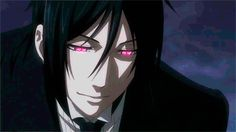 Black Butler GIF | You scare me sometimes Sebastian but your eyes are beautiful.