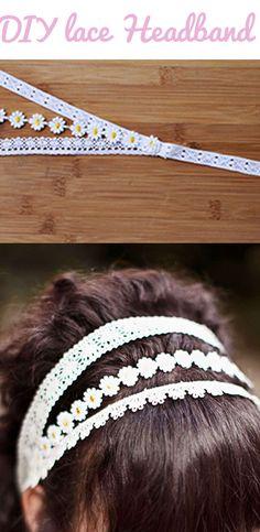 #DIY Lace Headband