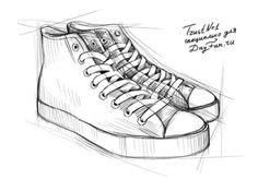 Рисунок карандашом джинсы