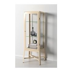 IKEA - FABRIKÖR, Glass-door cabinet, beige, With a glass-door cabinet, you can show off as well as protect your glassware or your favorite collection. You can easily change the height according to your storage needs as the shelves are adjustable. Ladder Bookcase, Bookshelves, Ikea Fabrikor, Living Room Furniture, Home Furniture, Accent Furniture, Glass Cabinet Doors, Curio Cabinets, Glass Doors