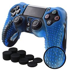 Pandaren Controller Skin Studded Anti-Slip Silicone Controller Cover Set for /Slim/PRO Controller(CamouBlue Controller Skin x 1 + FPS PRO Thumb Grips x Playstation 4 Accessories, Pc For Sale, Best Pc, Wireless Home Security Systems, Xbox One Controller, July 28, Gaming Headset, Blenders, Christmas 2019