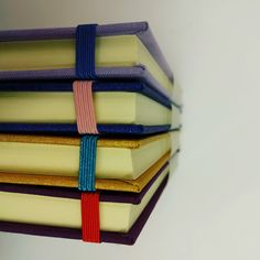 Colourful linen covered notebooks, handmade in Cork, Ireland.