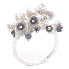 Pearl Cluster Short Ring by Mounir