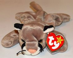 TY Beanie Baby Rare Name:Canyon the Cougar 1998 Beanie Babies Value, Ty Bears, Ty Plush, Ty Babies, Original Beanie Babies, Ty Toys, Cute Beanies, Ty Beanie Boos, Cuddle Buddy