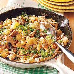 Chicken Hash, a cheap, breakfast-inspired dish that's delicious anytime of day #recipe