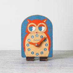 https://flic.kr/p/9nvRvn | Vintage Owl Wooden Clock