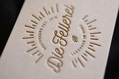 "Letterpress Businesscards for ""Die Fellerei"" Check them out here: www.diefellerei.de #letterpressbusinesscards #letterjazz #mitschmackesgedruckt #madeingermany"