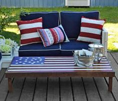 Patriotic Coffee Table | Americana Style: DIY Flag Coffee Table