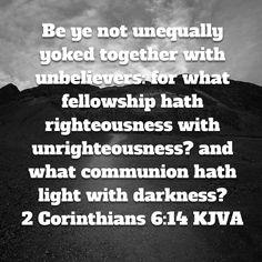 Scripture about dating an unbeliever crossword