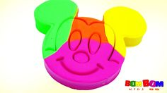 Mickey Mouse Play Doh Learn Colors Finger Family Nursery Rhymes Molds Fu...