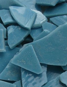 Slate Blue Mosaic Glass Cullet