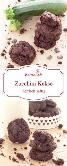 Keks Rezepte:  Zucchini und Schokolade  als  Kekse - innen schön weich!