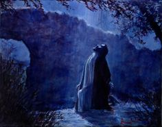 Giclee Print of Jesus in Garden Religious by LarryWomackFineArts, $195.00