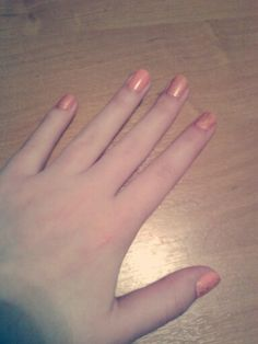 My nails. Pink and golden