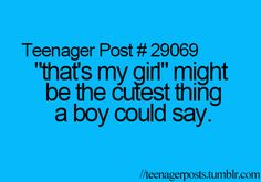 Love when my guy says stuff like that. Calling me honey or sweetheart are close seconds. Teenager Quotes, Teen Quotes, Funny Quotes, Cute Guy Quotes, Quotes Quotes, Teenage Crush Quotes, Cute Crush Quotes, Cute Relationships, Relationship Goals
