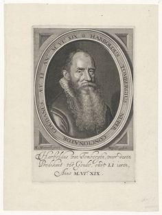 Portret van Harboldus Tombergius (Thombergen) (ca. Gouda, Van, Vans, Vans Outfit