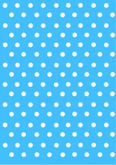Puntitos blancos y azules