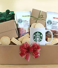 Starbucks Recharge and Renew---Coffee basket idea. does not need to be starbucks. Cute Gifts, Unique Gifts, Coffee Gift Baskets, Holiday Gifts, Christmas Gifts, Xmas, Christmas Ideas, Cheap Candles, Fruit Gifts