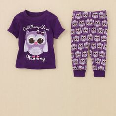 baby girl - sleep & underwear - owl pj set | Children's Clothing | Kids Clothes | The Children's Place