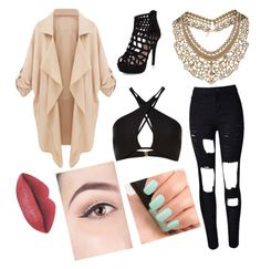 """""""Cut Out"""" by schlabach-shelly ❤ liked on Polyvore featuring Topshop and NARS Cosmetics"""